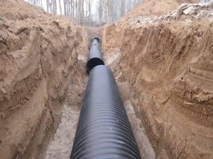 生活污水排入地下管网双壁波纹管使出洪荒之力!