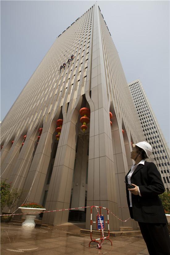 武汉外墙清洗交通银行案例