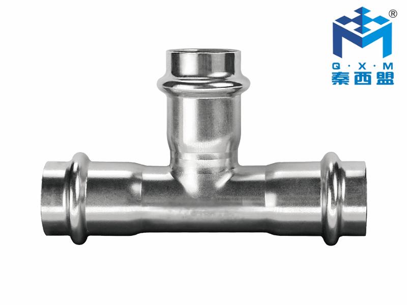 304不锈钢水管-等径三通