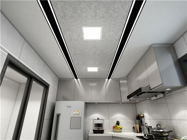 灰度空间深厨房集成吊顶