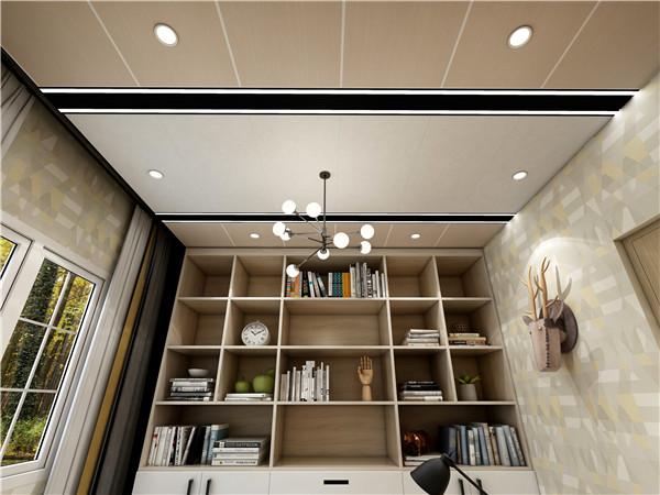 北美金橡+灰度空间浅书房集成吊顶