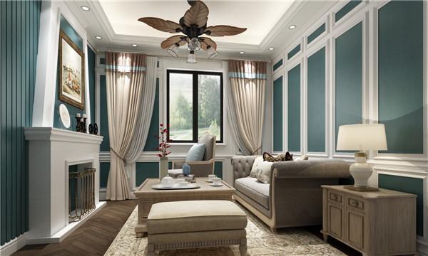 美式客厅护墙板