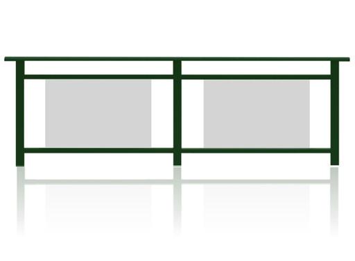 彩板夹胶玻璃护栏