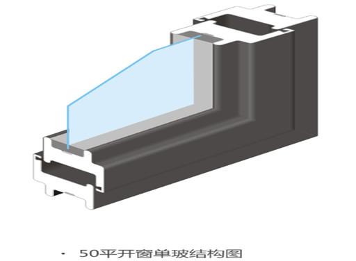 50平开窗单玻结构图