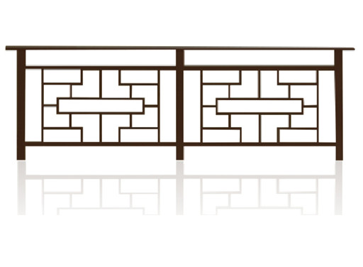 彩板仿古式护栏