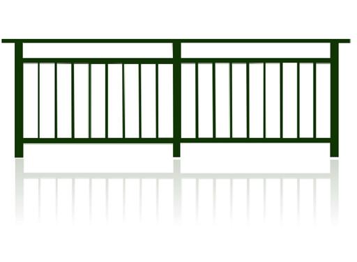 彩板立柱式护栏