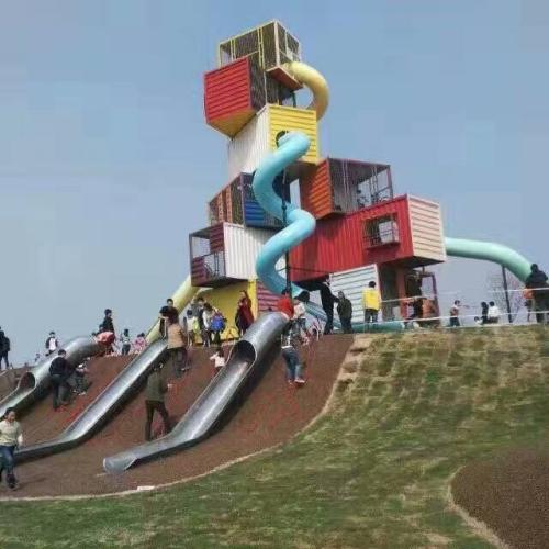 成都儿童游乐设施-不锈钢滑梯