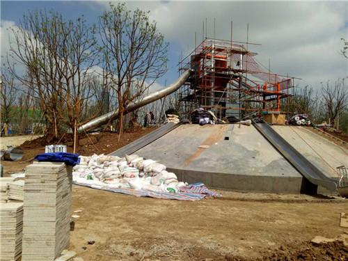 合肥不锈钢滑梯游乐设备安装成功案例