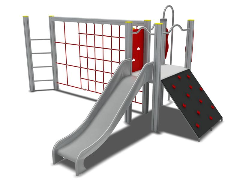 不锈钢滑梯儿童游乐设备