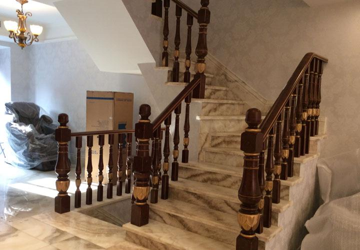 东山国际实木楼梯案例