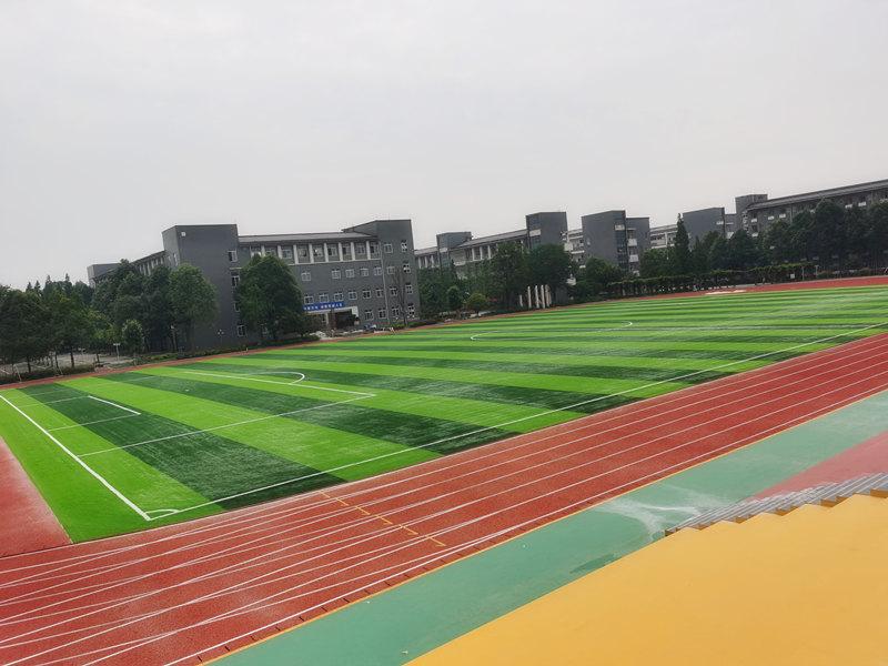 成都温江寿安学校—成都塑胶跑道施工案例