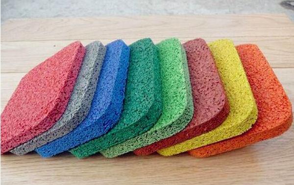 成都epdm橡胶颗粒材料为什么有这么多颜色?