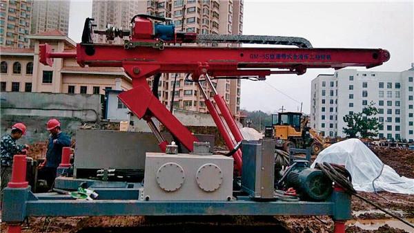 天水市丰州区建筑科技大厦基坑支护双管旋喷封水支护项目