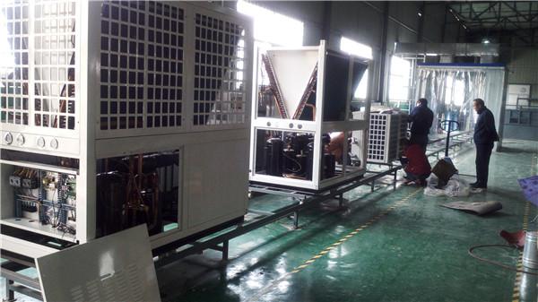 谷轮全封闭机组生产线
