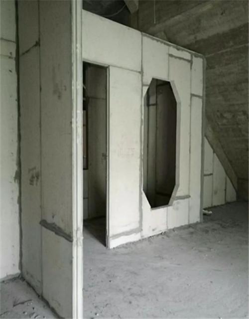 轻质隔墙板安装施工完成效果图!
