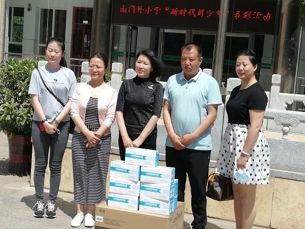 内蒙古启安消防工程有限公司为几所学校捐赠防控物资