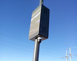 LED灯杆屏顺应时代发展的潮流凸显信息化