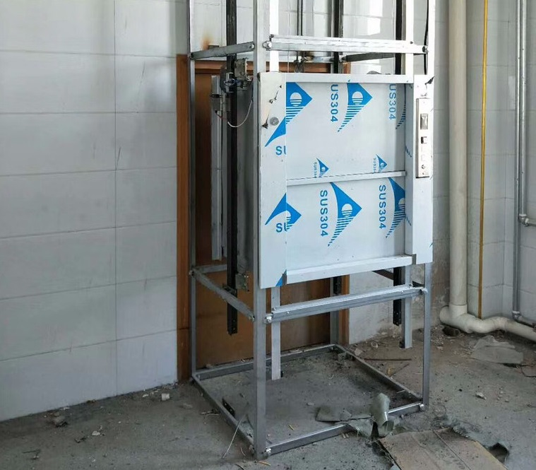 河南传菜电梯安装案例