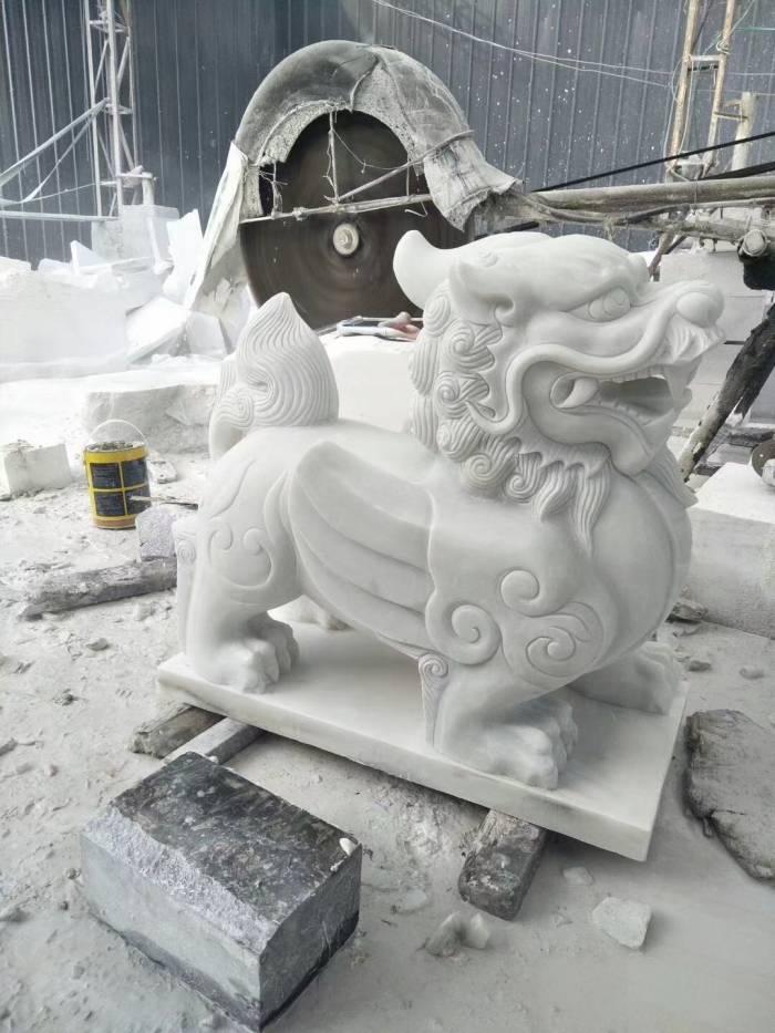 四川汉白玉石狮雕像