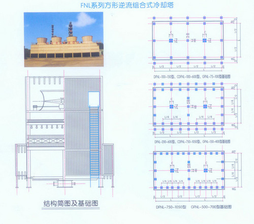 方形逆流式冷却塔价格