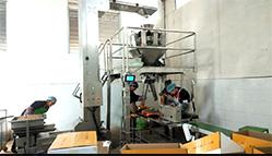 半自动定量称重人工接料系统 核桃物料
