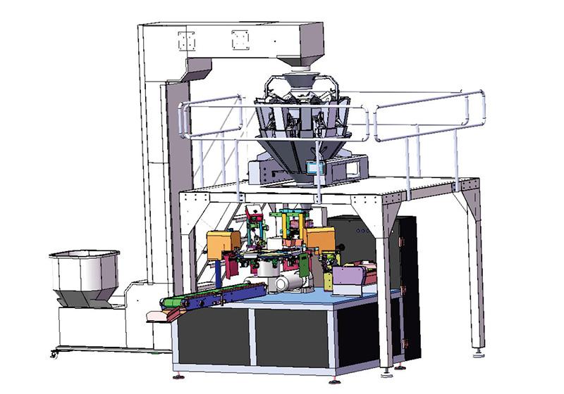 给袋式称重包装系统 自动包装系统