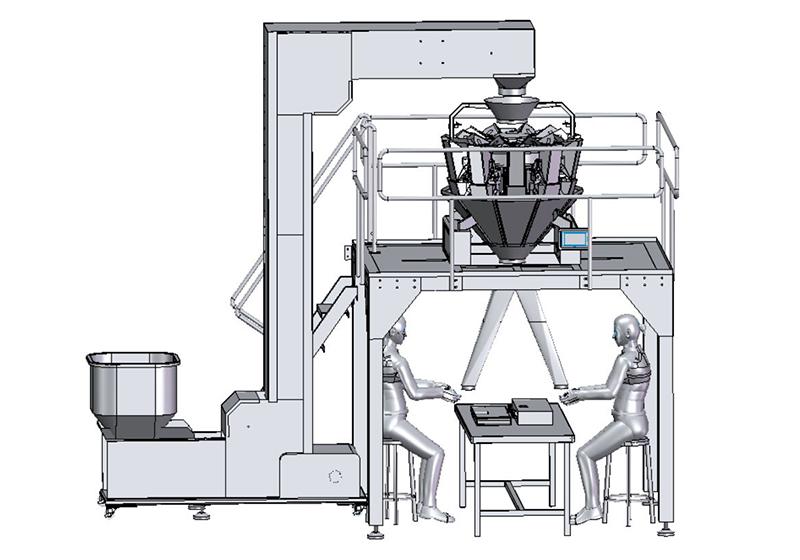 双出料人工接料包装系统