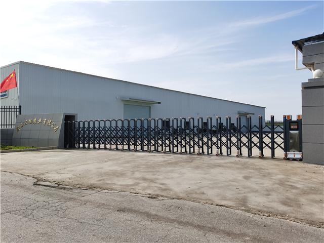 陕西三旭农业有限公司电动伸缩门安装完毕