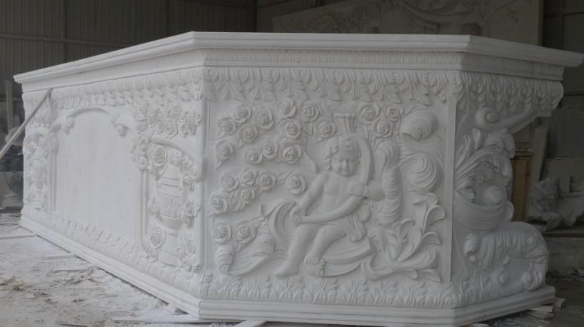 雅安汉白玉浮雕要怎么正确的清洗干净?怎么保养?
