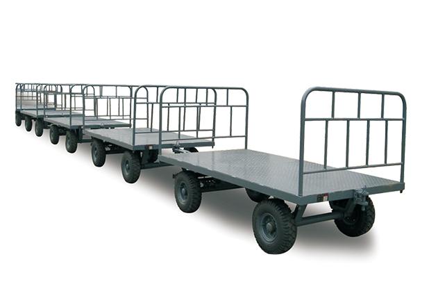 南充叉车牵引拖车-1-80吨平板拖车 平板拖车
