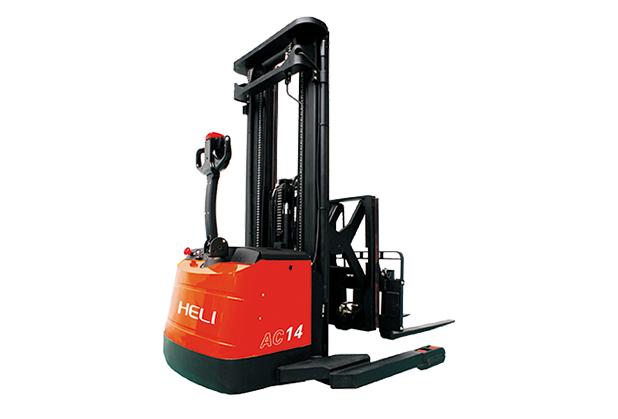 南充电动仓储叉车销售-1.3-1.4吨电动步行式前移叉车
