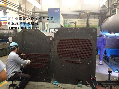 更換中央空調冷凝器銅管