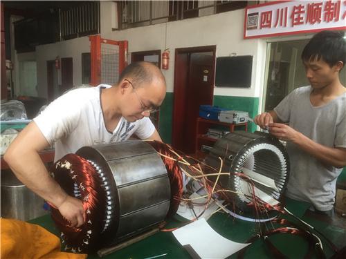 成都压缩机电机绕线