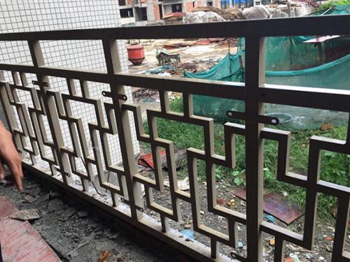 四川鐵藝欄桿施工安裝現場