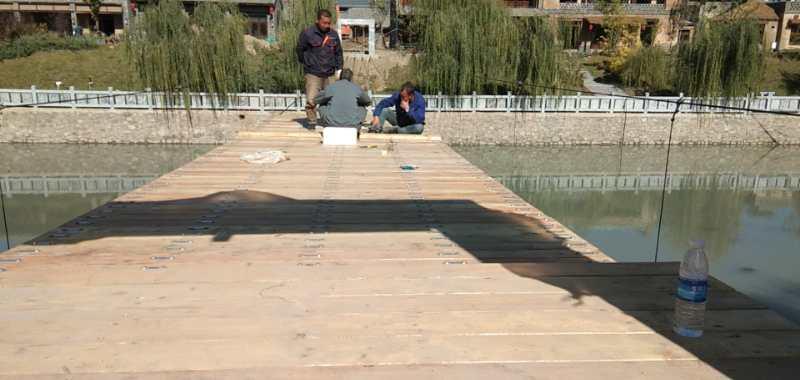 河北唐山木质吊桥施工