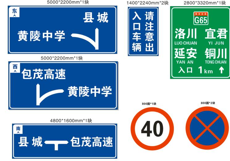 不同型号的陕西标志标牌应该怎样使用?