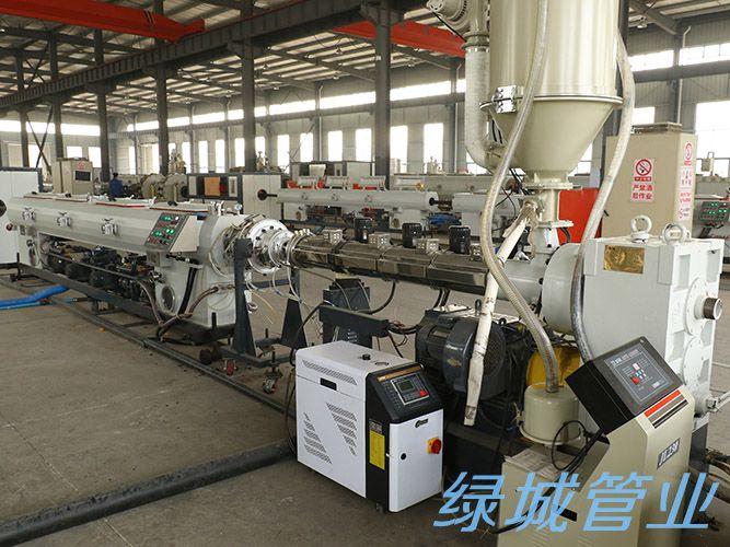 四川绿城管业生产设备展示