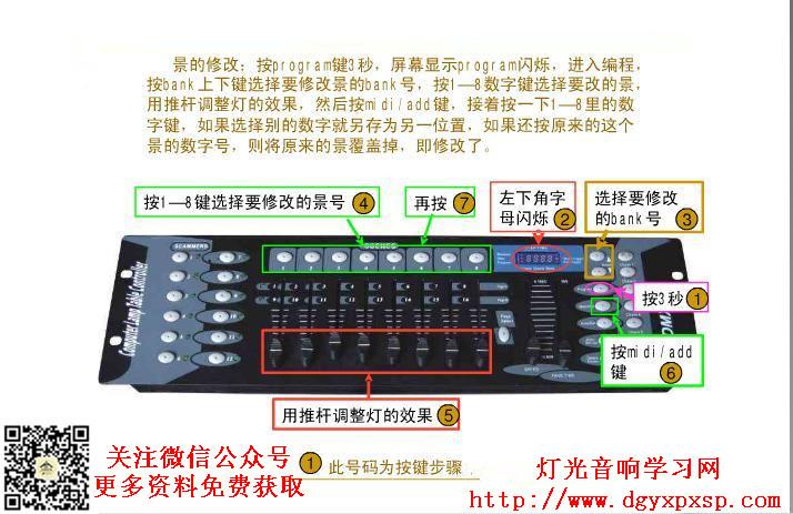 DMX192控台图解,功能详细说明免费分享