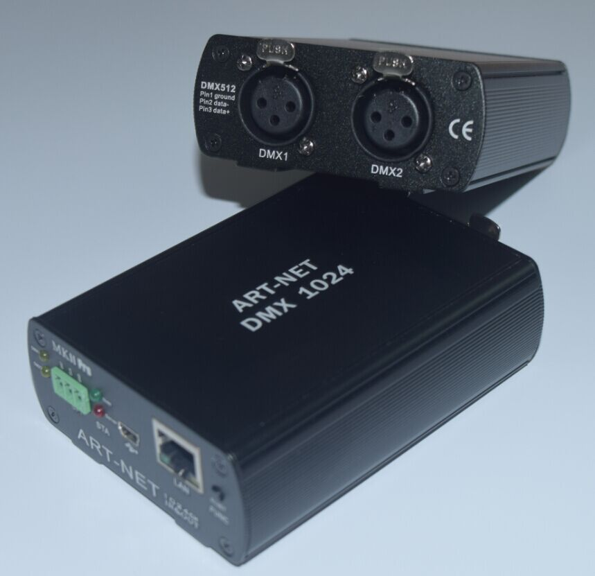 ArtNet控制器双向1024通道DMX网络灯光控台支持电脑3D模拟软件