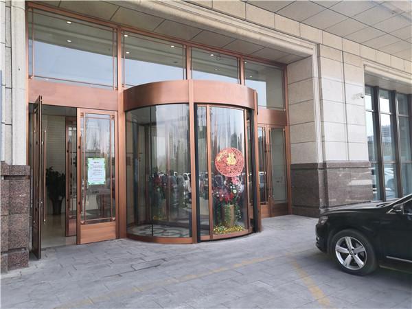 中国工商银行合作呼市旋转门