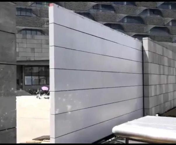 大型室外地导轨重型自动感应门