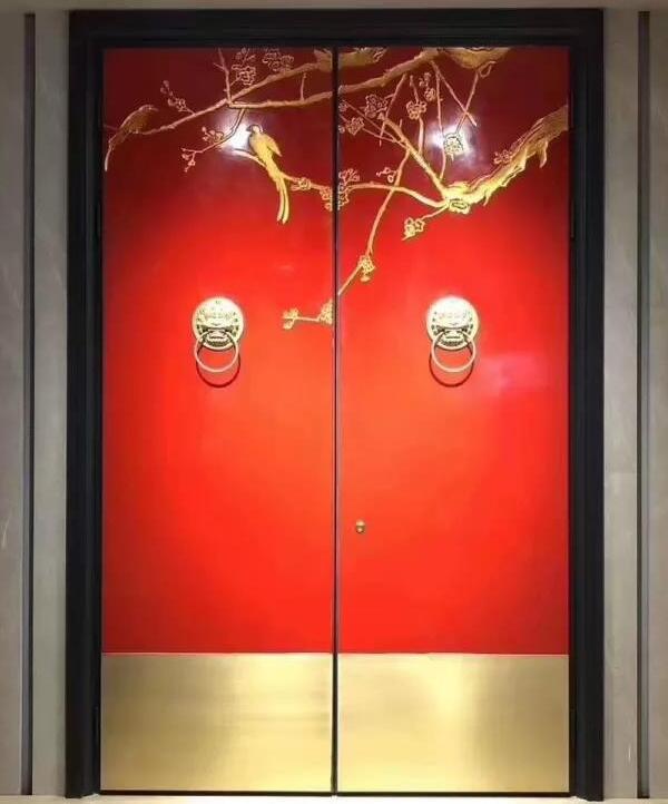 业祖门业-新中式风格铜门