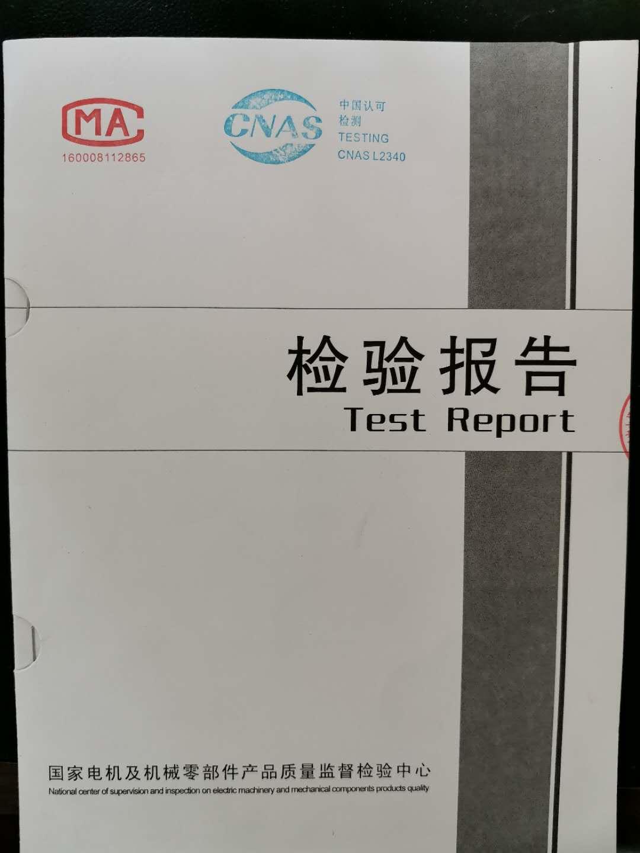 电机检验报告