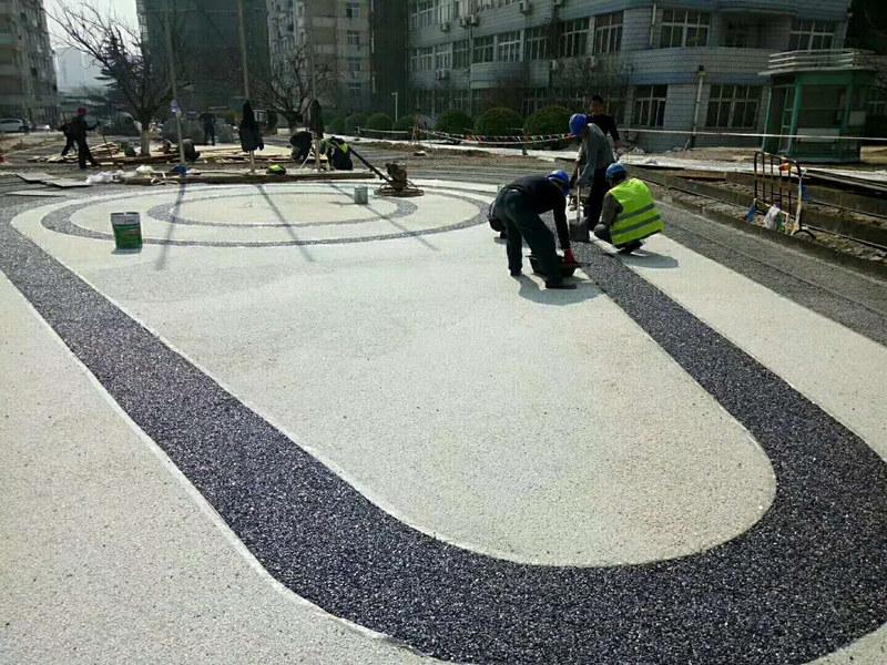 陕西彩色透水路面工程