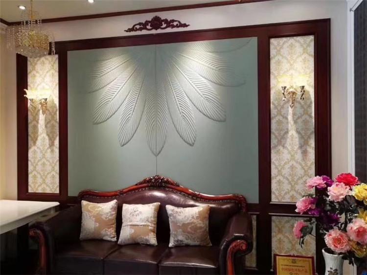 汉中硬包刺绣背景墙