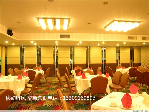 漢中酒店包間移動屏風安裝