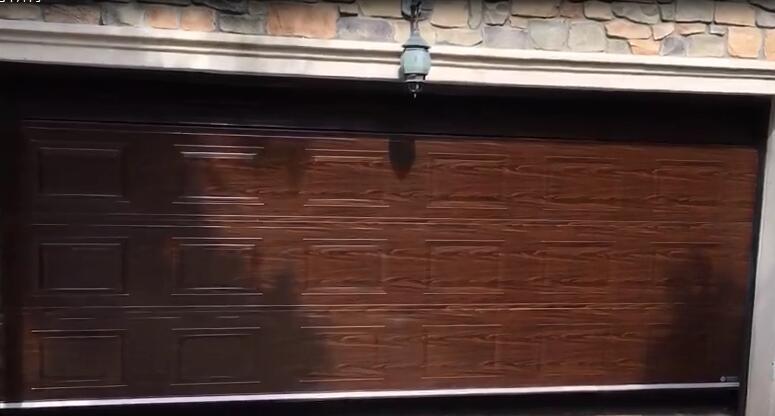 木纹铝板发泡车库门