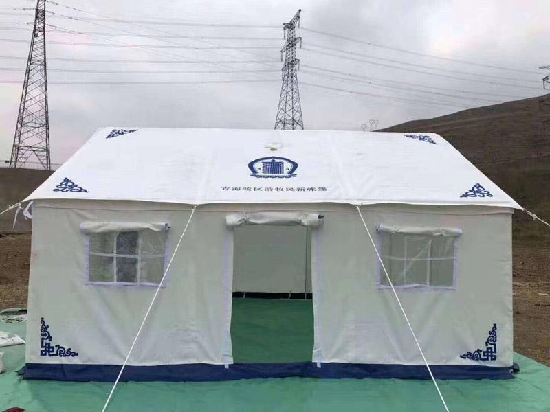 青海牧区游牧民帐篷设计制作完成