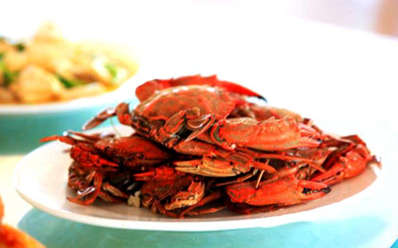 哈仙岛清蒸螃蟹