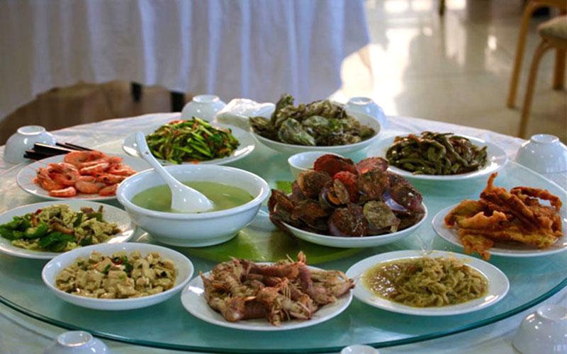 哈仙岛兴旺渔家餐桌